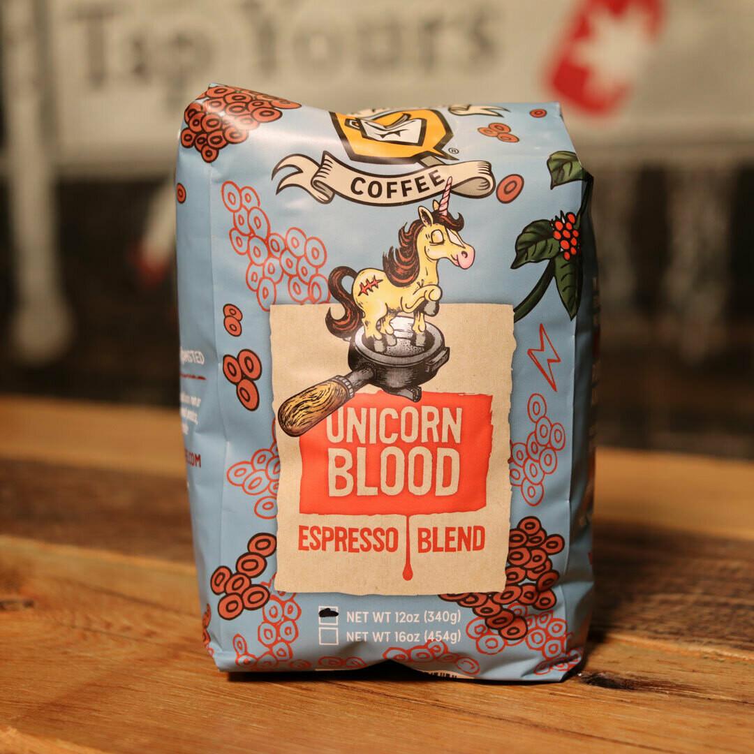 Dark Matter Unicorn Blood Whole Bean Espresso Blend 12oz Bag