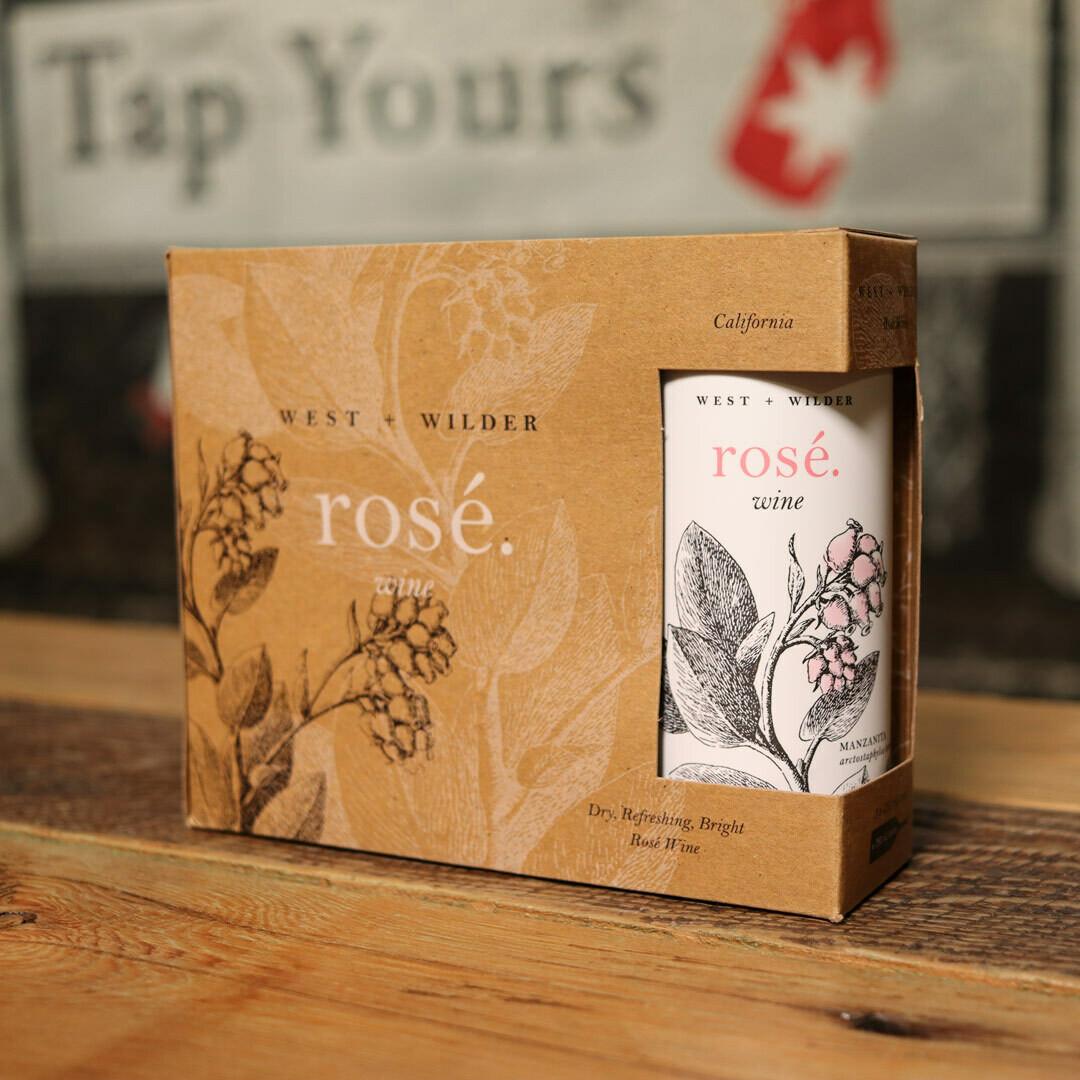 West + Wilder Still Rosé Wine Napa Valley California 750ml 3PK Cans