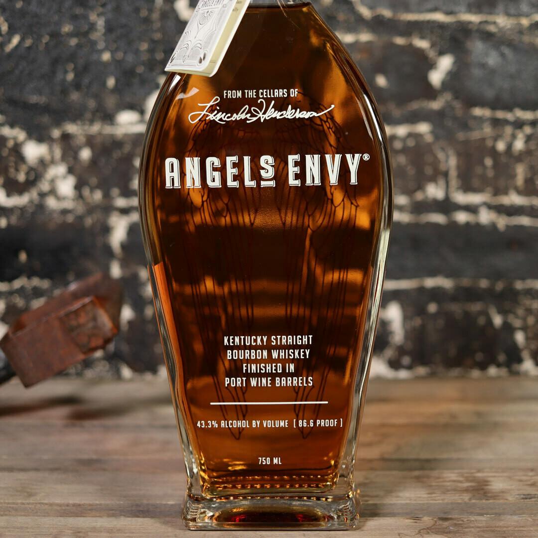 Angels Envy Bourbon Whiskey Finished in Port Wine Barrels 750ml.