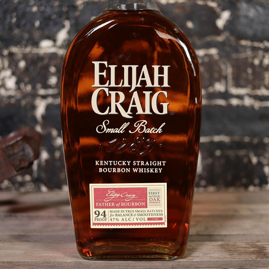 Elijah Craig Small Batch Kentucky Straight Bourbon Whiskey 750ml.
