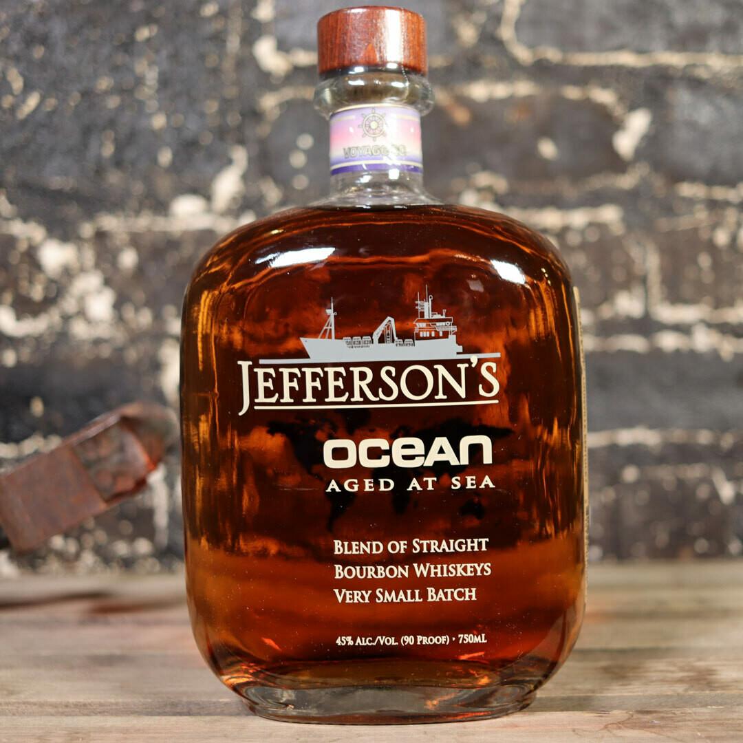Jefferson's Ocean Blend of Straight Bourbon Whiskeys Very Small Batch 750ml.