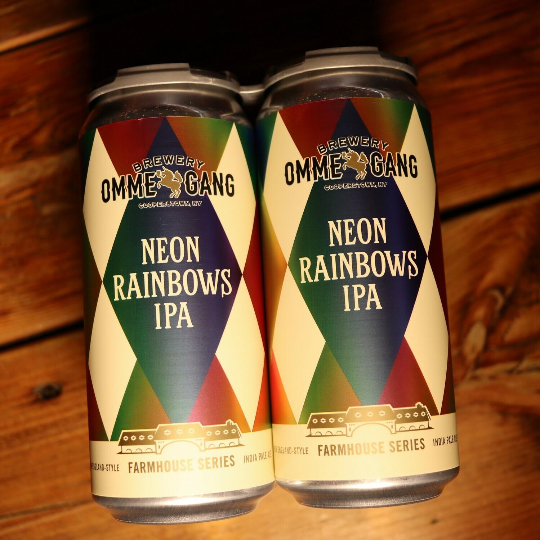 Ommegang Neon Rainbows IPA 16 FL. OZ. 4PK Cans
