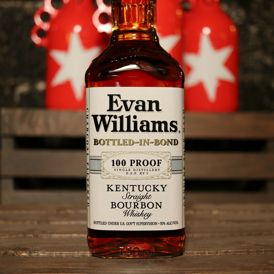 Evan Williams Bottled-In-Bond Kentucky Straight Bourbon Whiskey 750ml.