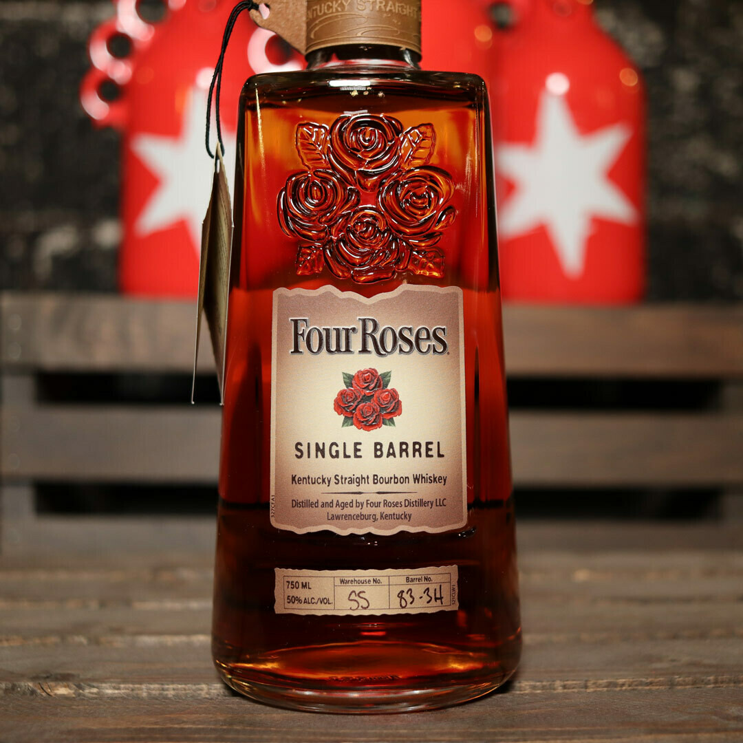 Four Roses Single Barrel Kentucky Straight Bourbon Whiskey 750ml.