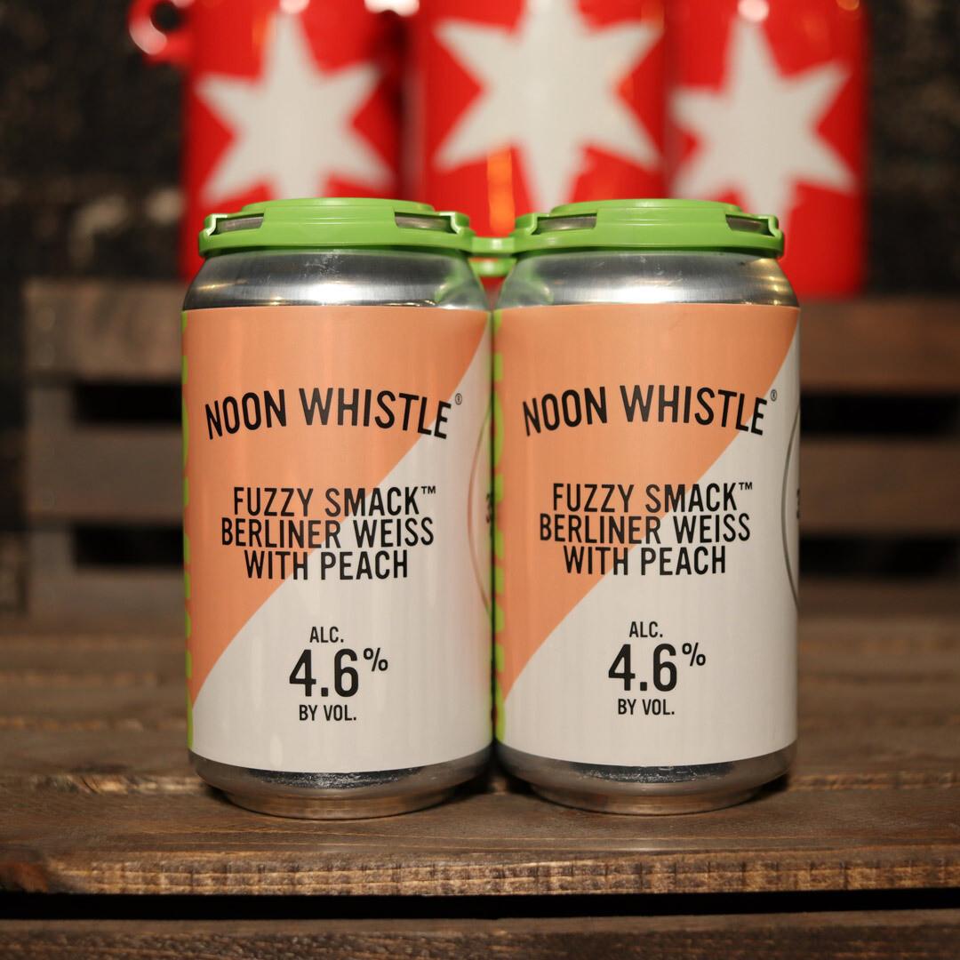 Noon Whistle Fuzzy Smack Sour w/Peaches 12 FL. OZ 4PK Cans