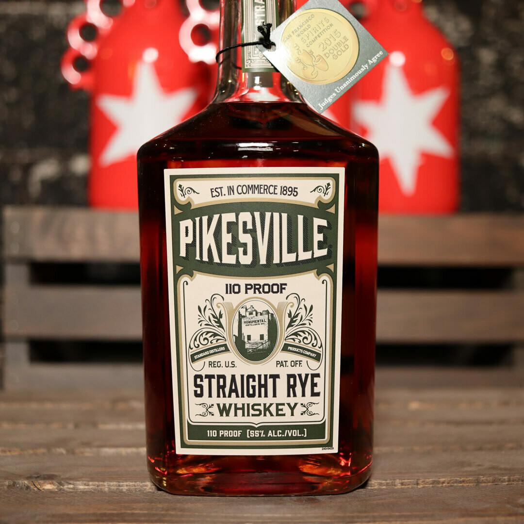 Pikesville Straight Rye Whiskey 750ml.