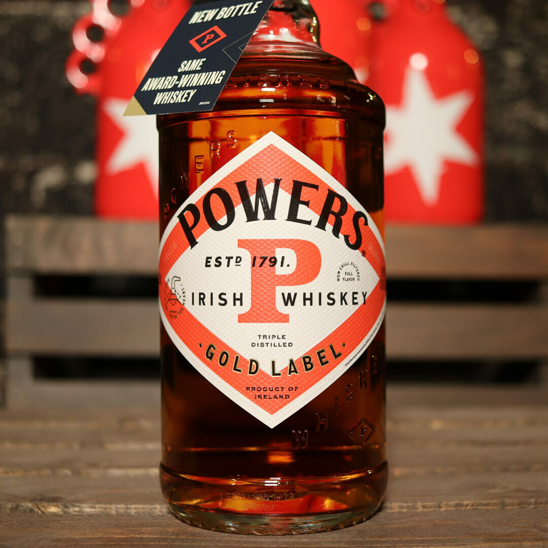 Powers Gold Label Irish Whiskey 750ml.