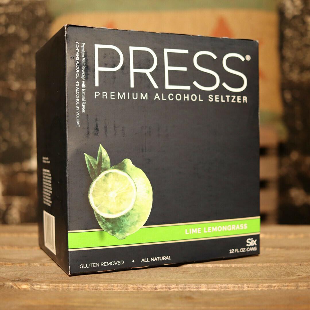 Press Hard Seltzer Lime Lemongrass 12 FL. OZ. 6PK Cans