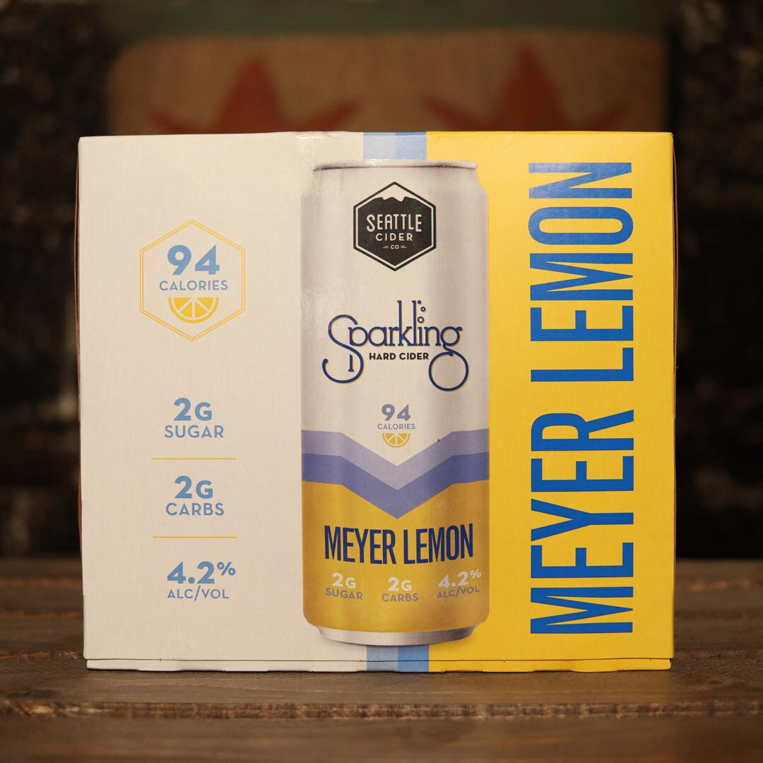 Seattle Sparkling Hard Cider Meyer Lemon 12 FL. OZ. 6PK Cans