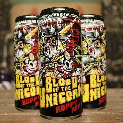 Pipeworks Blood Of The Unicorn Hoppy Red Ale 16 FL. OZ. 4PK