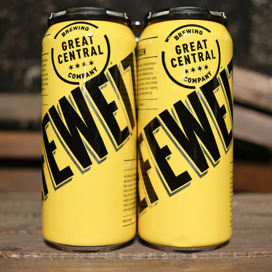 Great Central Hefeweizen 16 FL. OZ. 4PK Cans