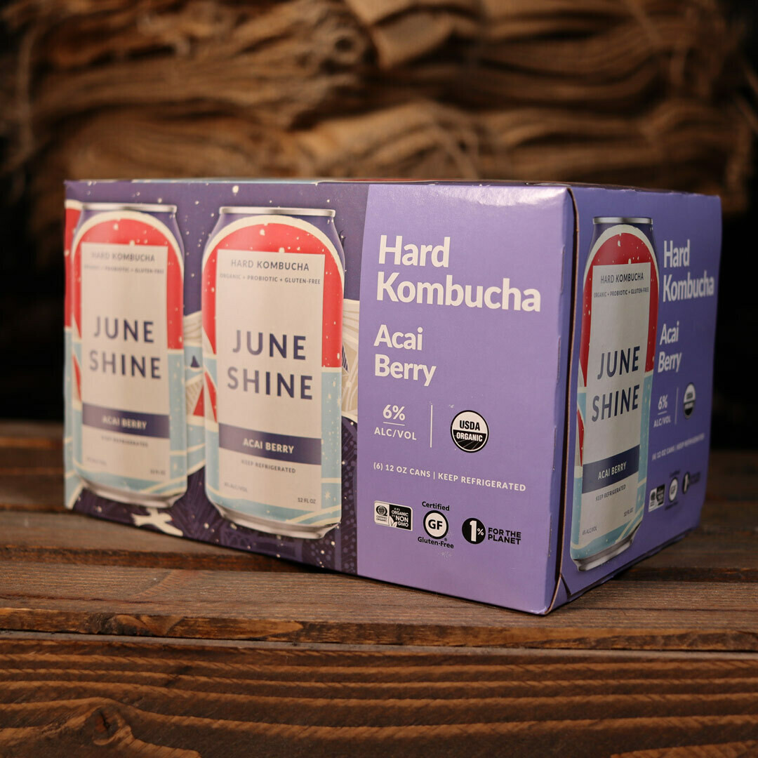 June Shine Kombucha Acai Berry 12 FL. OZ. 6PK Cans
