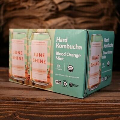 June Shine Kombucha Blood Orange Mint 12 FL. OZ. 6PK Cans