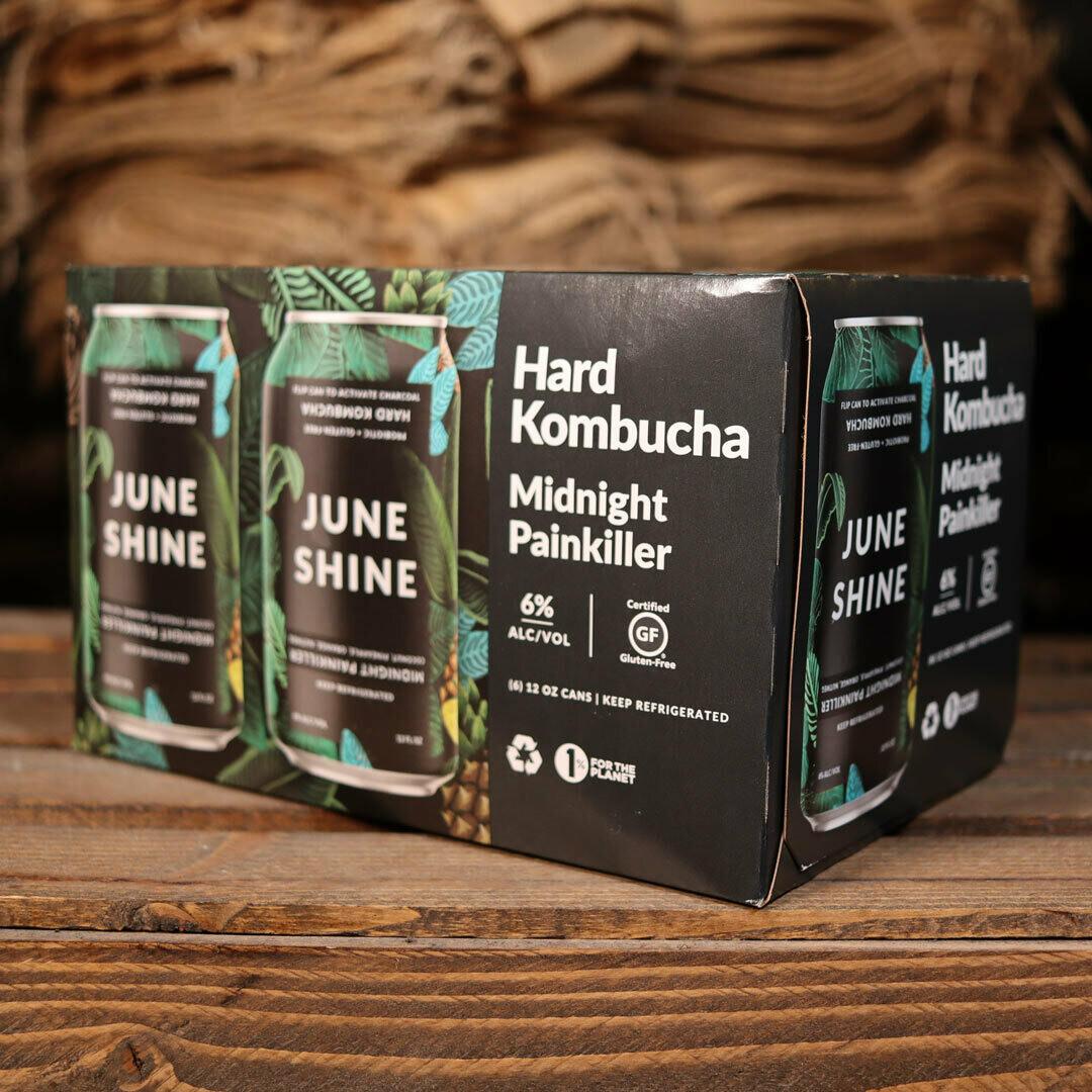 June Shine Kombucha Midnight Painkiller 12 FL. OZ. 6PK Cans