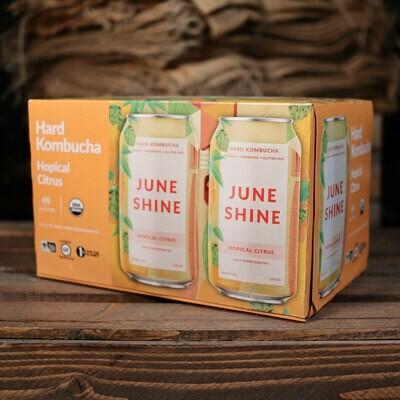 June Shine Kombucha Hopical Citrus 12 FL. OZ. 6PK Cans