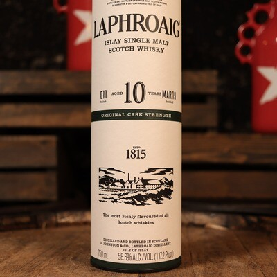 Laphroaig Islay Single Malt Scotch Whisky 10 Yr. 750ml.