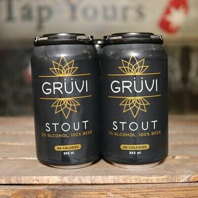 Gruvi Non Alcoholic Stout 12 FL. OZ. 4PK Cans