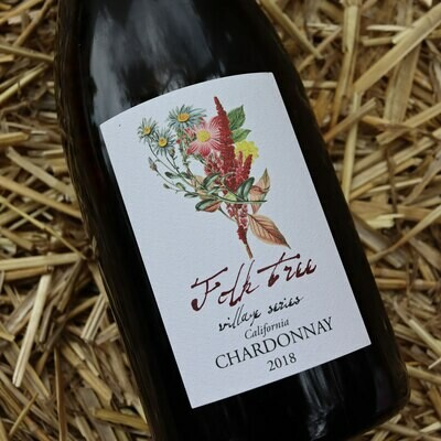 Folk Tree Village Series Chardonnay Buelton California 750ml.