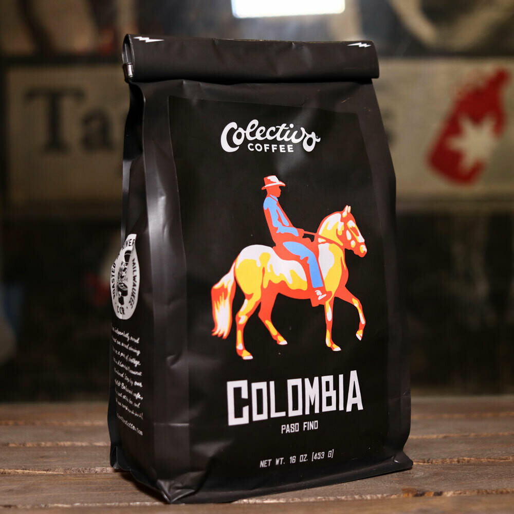 Colectivo Colombia Paso Fino Whole Beans 16 OZ. Bag