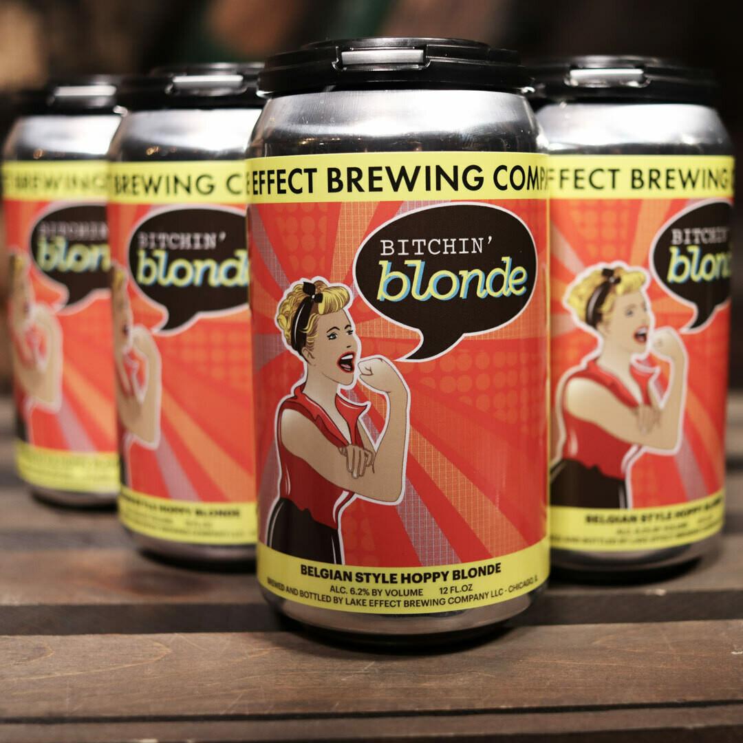 Lake Effect Brewing Bitchin' Blonde Belgian 12 FL. OZ. 6PK Cans