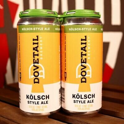 Dovetail Kolsch Style Ale 16 FL. OZ. 4PK Cans