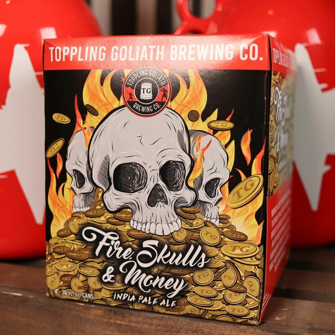 Toppling Goliath Fire Skulls & Money IPA 16 FL. OZ. 4PK Cans