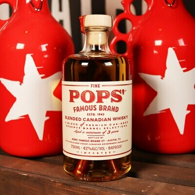 POPS' Famous Brand Blended Canadian Whisky 750 mL
