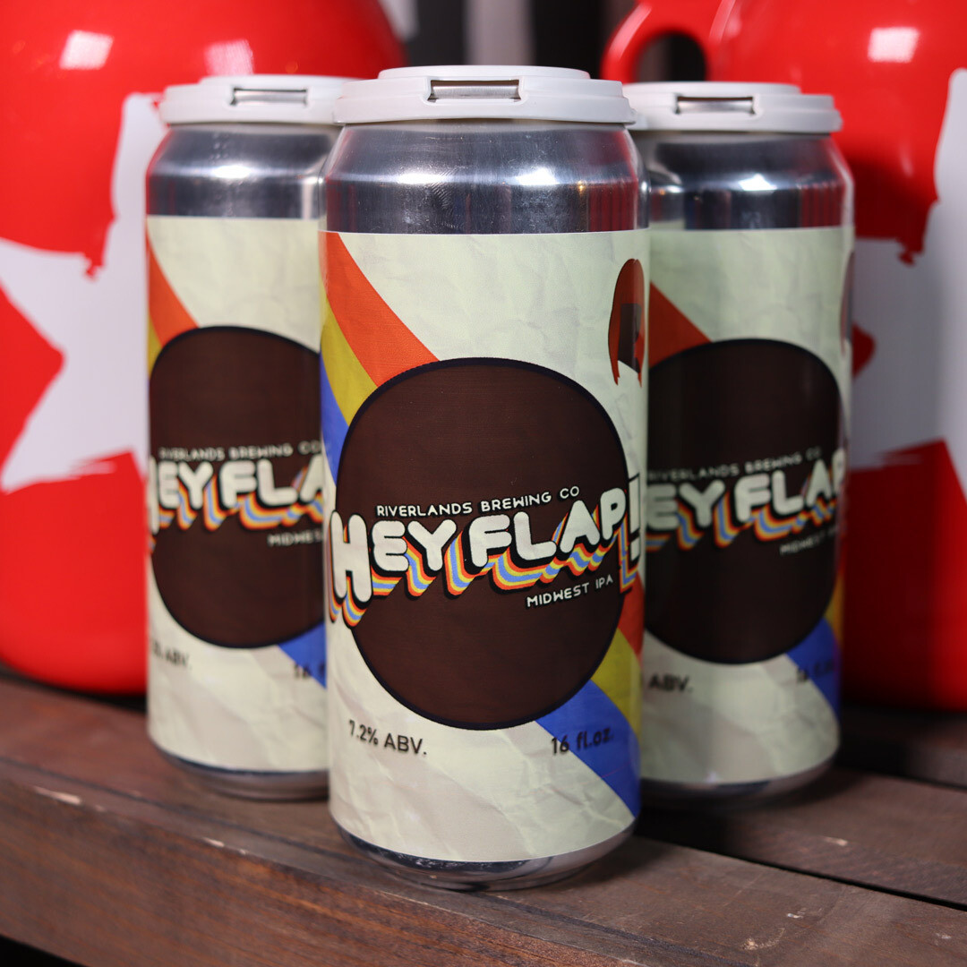 Riverlands Hey Flap Midwest IPA 16 FL. OZ. 4PK Cans