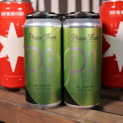 Phase Three P3 Pils 16 FL. OZ. 4PK Cans