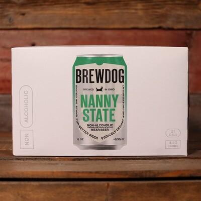 Brew Dog Nanny State 0.5% ABV Hoppy Ale 12 FL. OZ. 6PK Cans