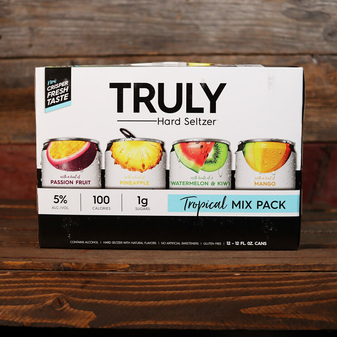 Truly Hard Seltzer Tropical Mix Variety Pack 12 FL. OZ. 12PK Cans