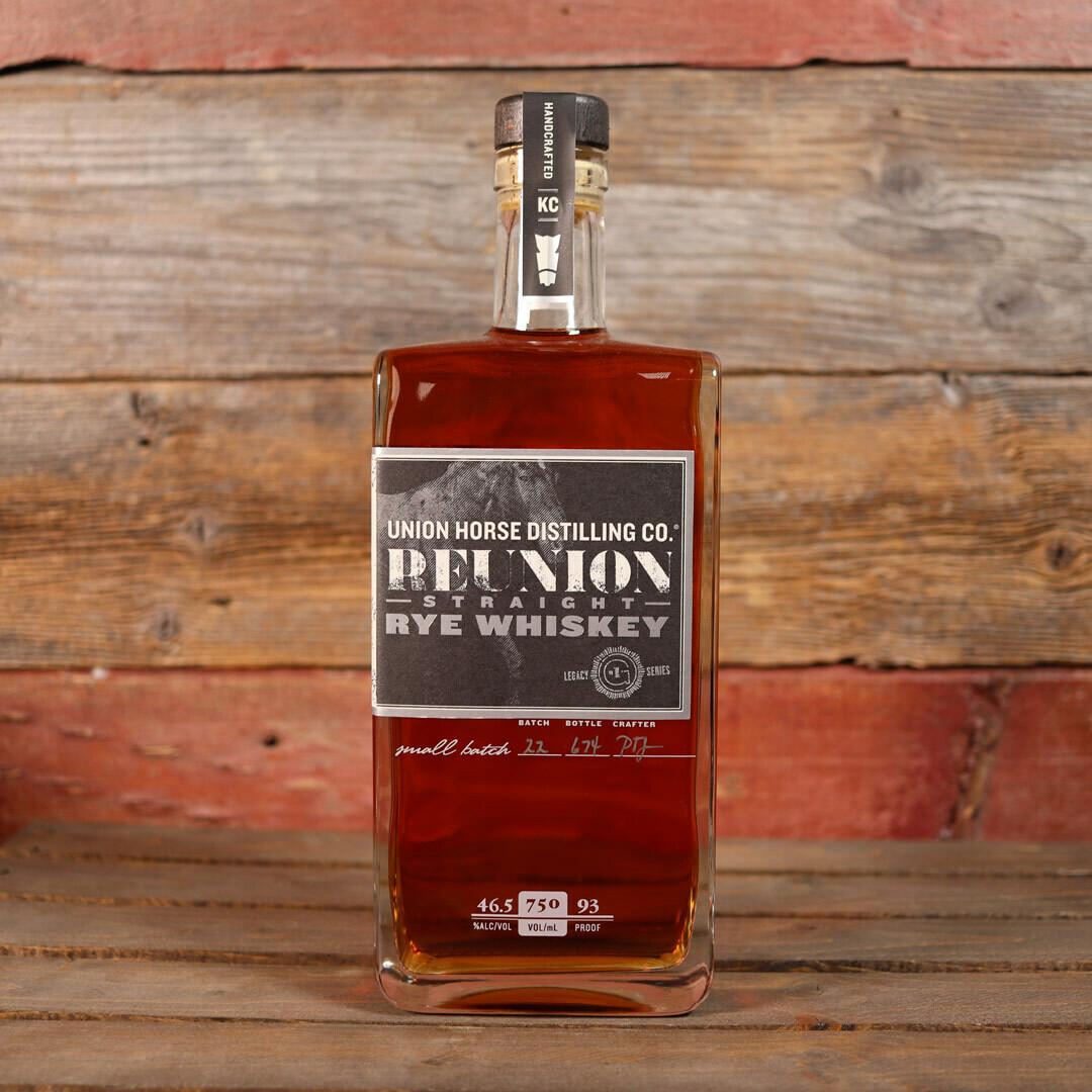 Union Horse Reunion Straight Rye Whiskey 750ml