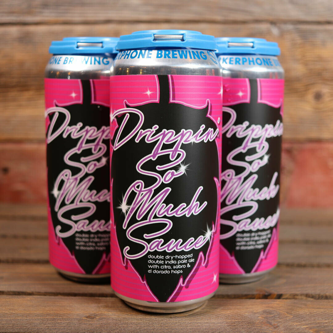 Mikerphone Drippin' So Much Sauce DDH DIPA 16 FL. OZ. 4PK Cans
