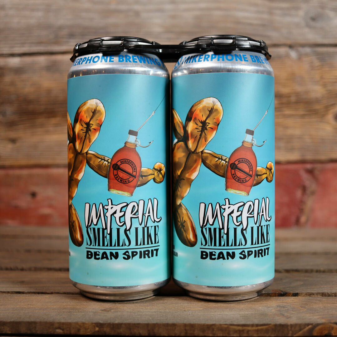 Mikerphone Smells Like Bean Spirit Imperial Breakfast Stout w/Maple Syrup & Coffee 16 FL. OZ. 2PK Cans