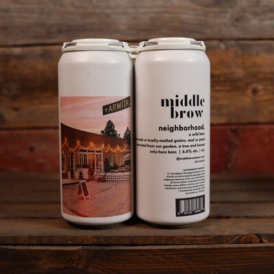 Middle Brow Neighborhood Wild Ale 16 FL. OZ. 4PK Cans