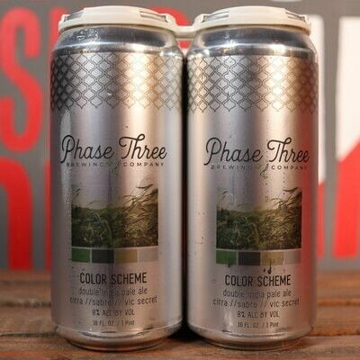 Phase Three Color Scheme DIPA 16 FL. OZ. 4PK Cans