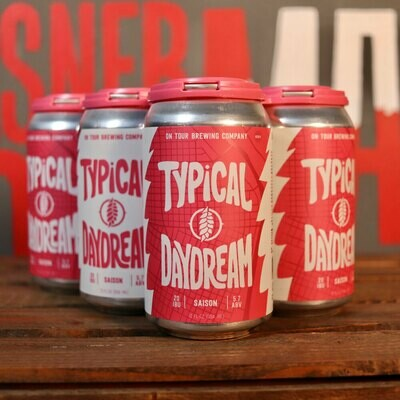 On Tour Typical Daydream Saison 12 FL. OZ. 6PK Cans