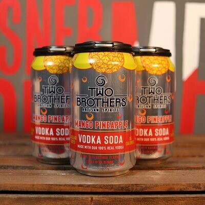 Two Brothers Vodka Soda Mango Pineapple 12 FL. OZ. 4PK Cans