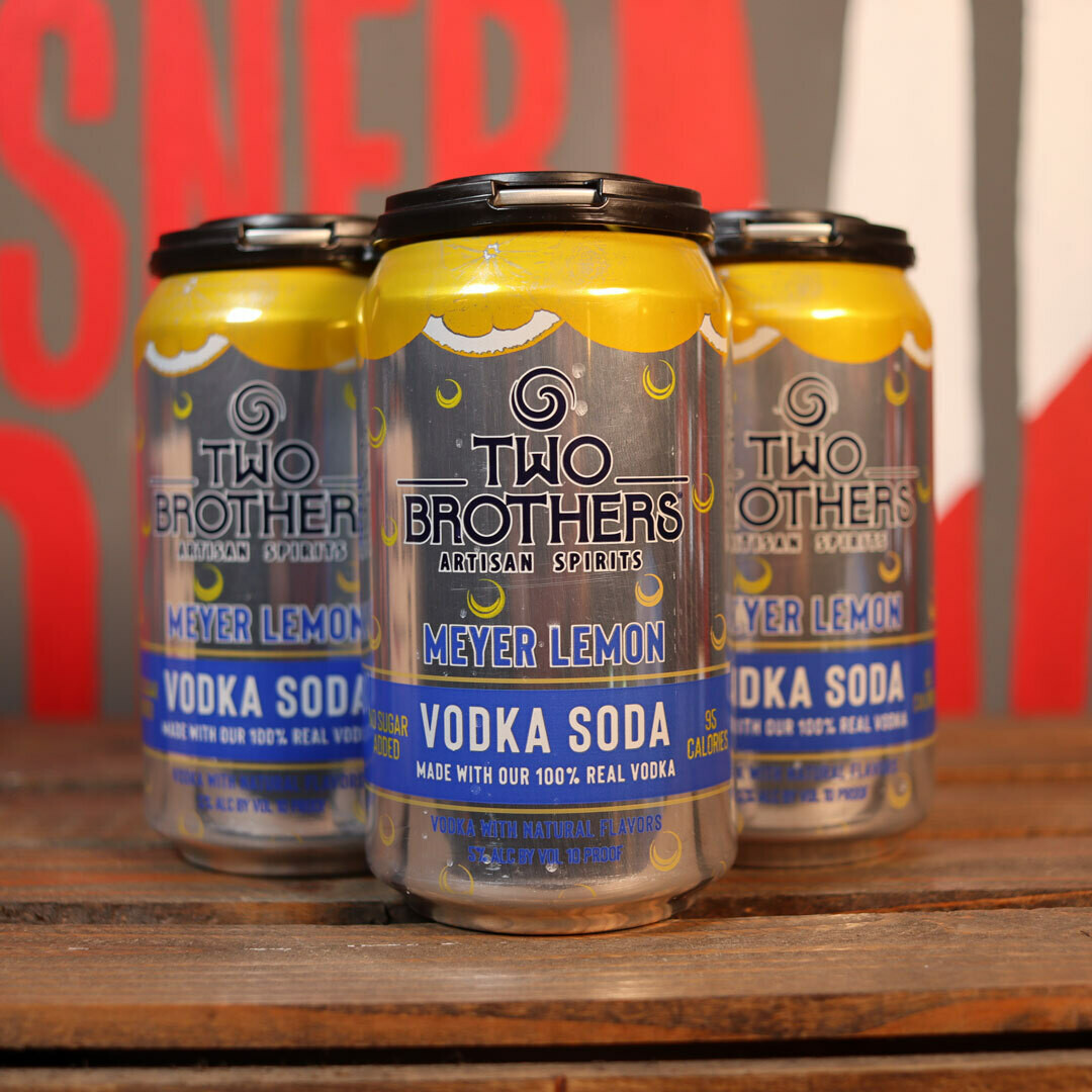 Two Brothers Vodka Soda Meyer Lemon 12 FL. OZ. 4PK Cans