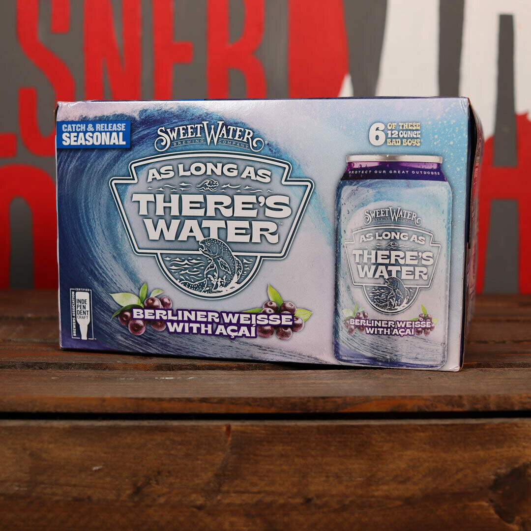 Sweet Water As Long As There's Water Berliner Weisse w/Acai 12 FL. OZ. 6PK Cans