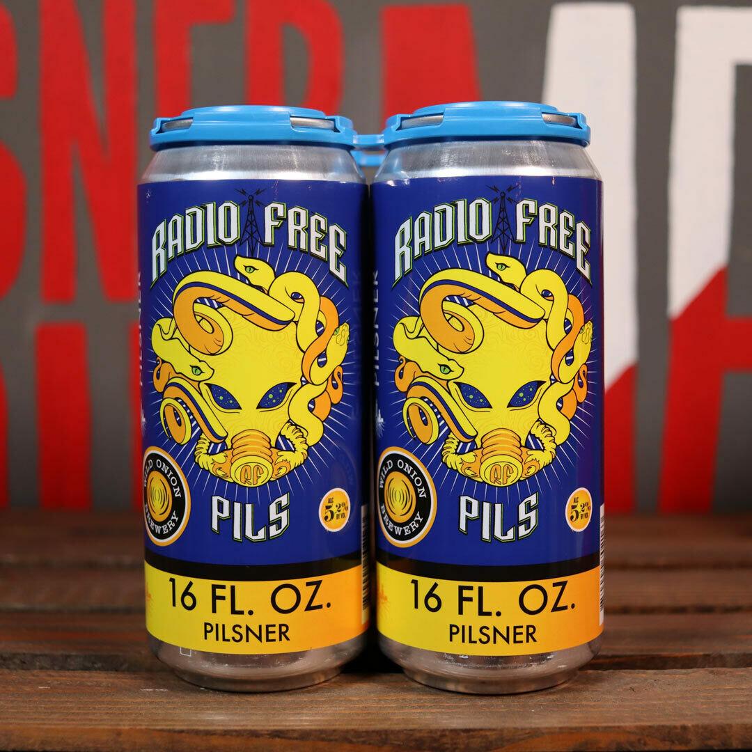 Wild Onion Radio Free Pils 16 FL. OZ. 4PK Cans