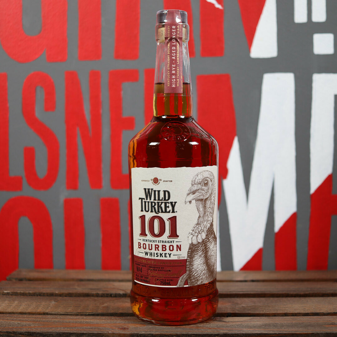 Wild Turkey 101 Bourbon Whiskey 750ml.