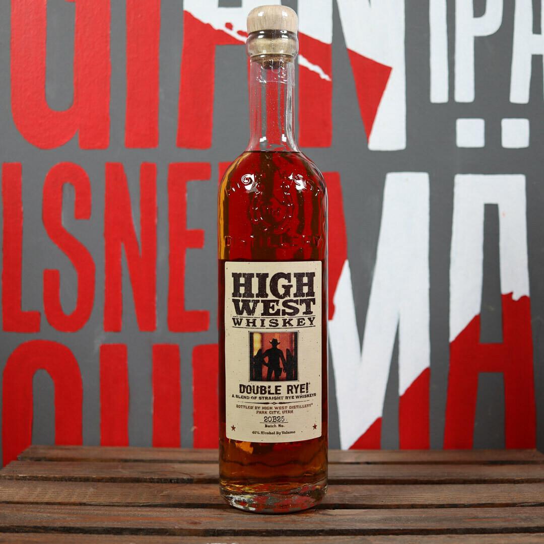 High West Whiskey Double Rye 750ml.