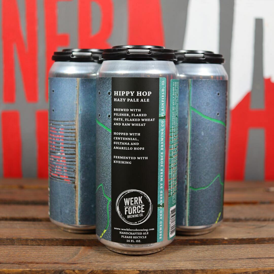 Werk Force Hippy Hop Hazy Pale Ale 16 FL. OZ. 4PK Cans