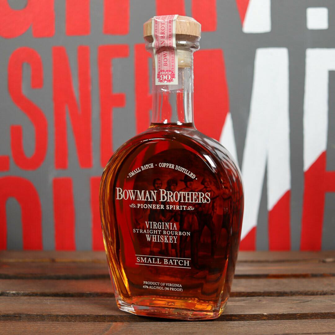 Bowman Brothers Small Batch Virginia Straight Bourbon 750ml.