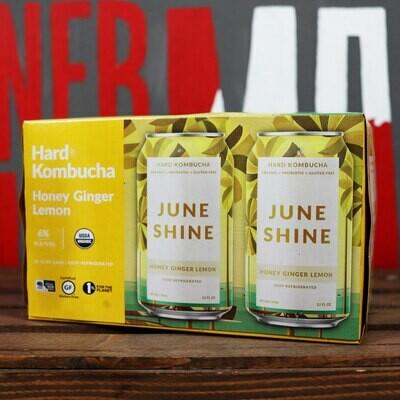 June Shine Kombucha Honey Ginger 12 FL. OZ. 6PK Cans