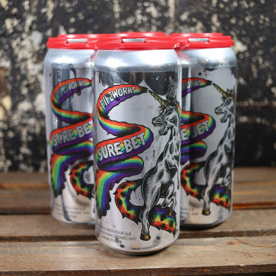 Pipeworks Sure Bet Imperial IPA w/Mango 16 FL. OZ. 4PK Cans