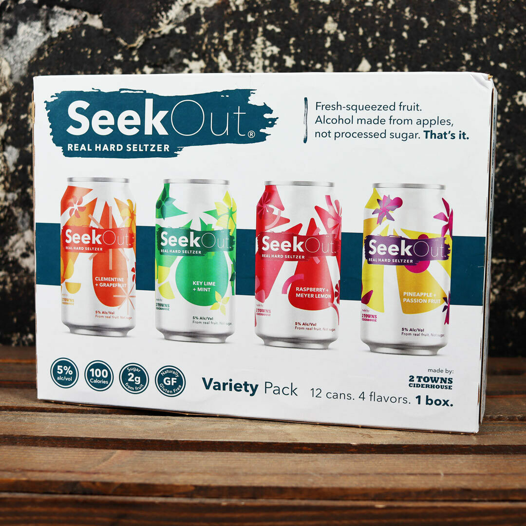 2 Towns Seek Out Hard Seltzer Variety Pack 12 FL. OZ. 12PK Cans