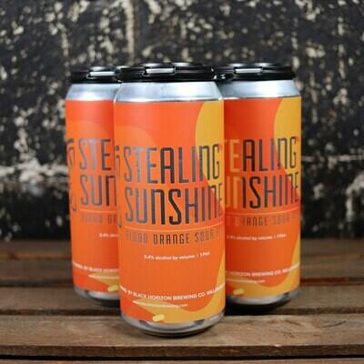Black Horizon Stealing Sunshine Blood Orange Sour Ale 16 FL. OZ. 4PK Cans