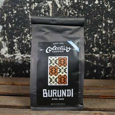 Colectivo Burundi Natural Gahahe Whole Bean Coffee 12 OZ. Bag